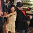 Claudia Ohana e Tiago Abravanel na vinheta do 'Dança dos Famosos'