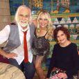 Francisco Cuoco, Ellen Roche e Rosamaria Murtinho na gravação da nova vinheta do 'Dança dos Famosos'