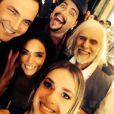 Monique Alfradique, Claudia Ohana, Daniel Boaventura, Tiago Abravanel e Francisco Cuoco na gravação da cinheta do 'Dança dos Famosos'