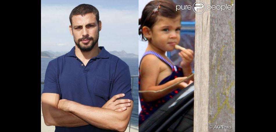 Cauã Reymond mostra muitas semelhanças com a filha, Sofia, de 2 anos, fruto do relacionamento do ator com Grazi Massafera