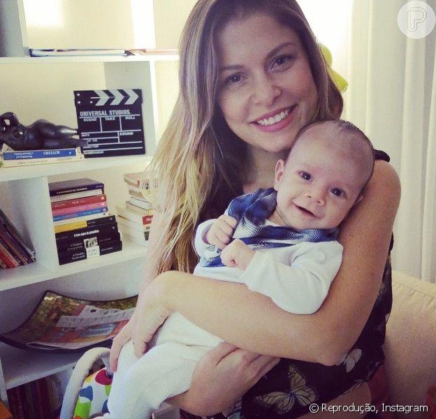 Bárbara Borges deu à luz Martin Bem há dois meses e já recuperou totalmente o seu corpo