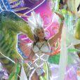 Bruna Marquezine entrou na passarela do samba no segundo dia do Grupo Especial, pela Grande Rio, na segunda (11). No mesmo dia a atriz assumiu o namoro com Neymar em pleno Carnaval