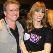 Ana Furtado ganha carinho de Boninho, filha e recebe famosos em bazar. Fotos!