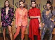 Looks metálicos e monocromáticos foram destaques na festa de 'O Sétimo Guardião'
