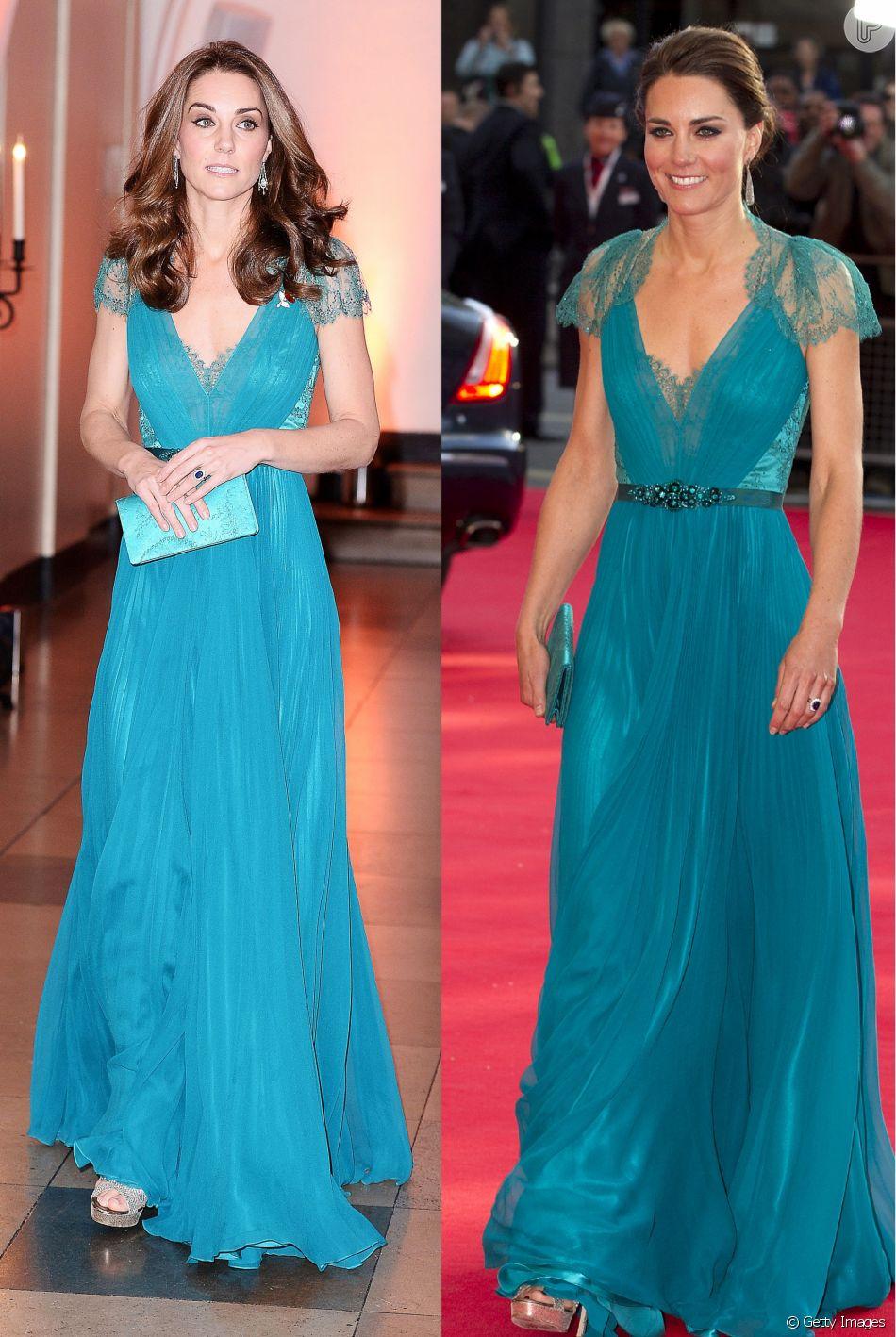 Kate Middleton repete vestido verde usado há seis anos em evento, em 9 de novembro de 2018