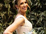 Vestido de casamento de Natasha Dantas tem 8 mil minipérolas bordadas. Saiba!