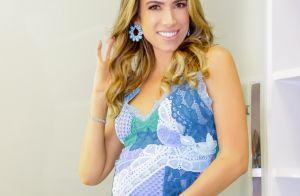 Patrícia Abravanel destaca barriguinha de grávida em look para o Teleton. Fotos!