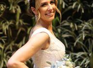 Flores e folhas de couro: teaser mostra vestido de noiva em casamento com Bonner