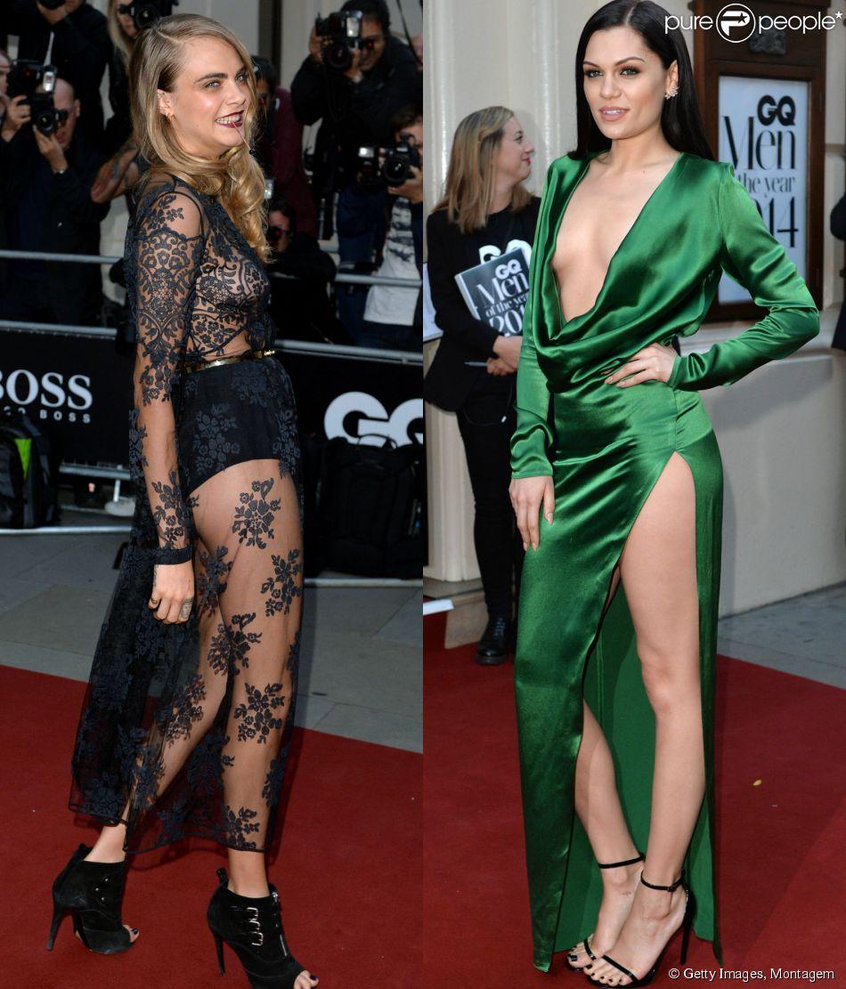 Cara Delevingne e Jessie J roubam a cena na premiação 'GQ Men of the Year Awards', que aconteceu em Londres nesta terça-feira, 2 de setembro de 2014