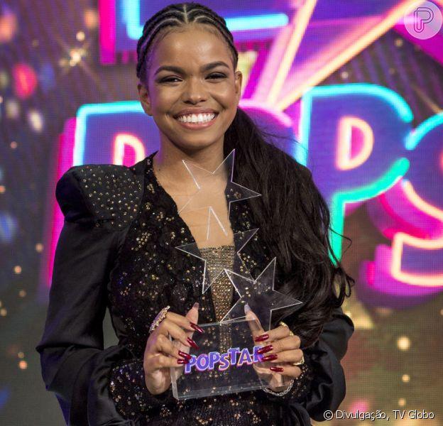 Jeniffer Nascimento rebateu críticas e defendeu a vitória no 'Popstar' em participação no 'Encontro' desta segunda-feira, 19 de novembro de 2018