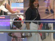 Minifashionista: filha de Ewbank usa look rodado e tênis sem cadarço em shopping