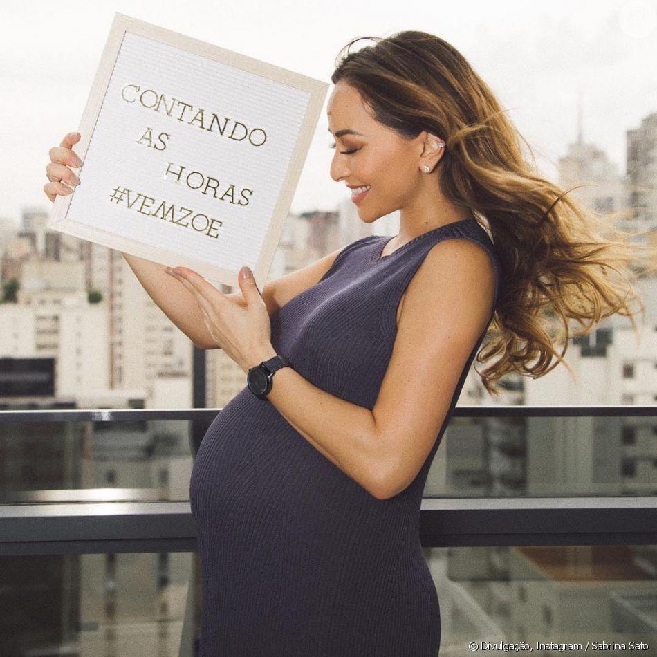 Sabrina Sato completa 40 semanas de gestação