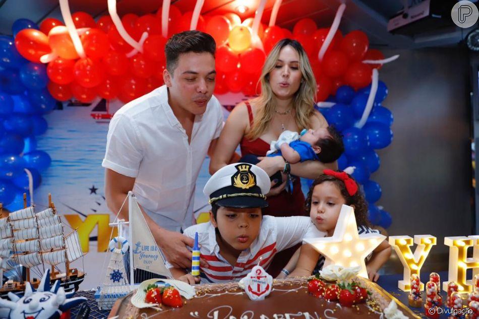 Wesley Safadão fez uma festa para comemorar os 8 anos de seu filho mais velho, Yhudy