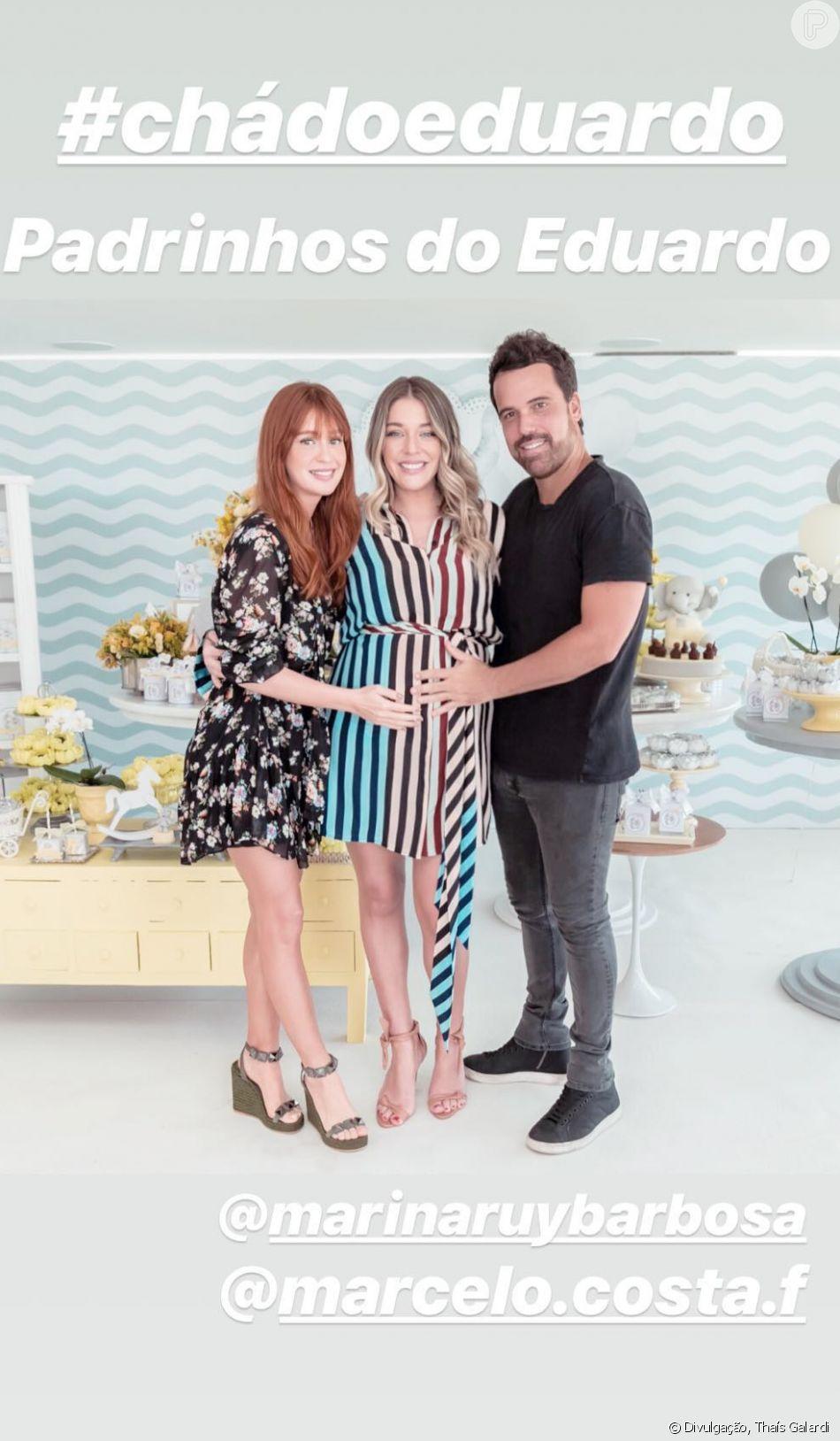 Luma Costa recebeu Marina Ruy Barbosa em chá de bebê do segundo filho neste domingo, 25 d novembro de 2018