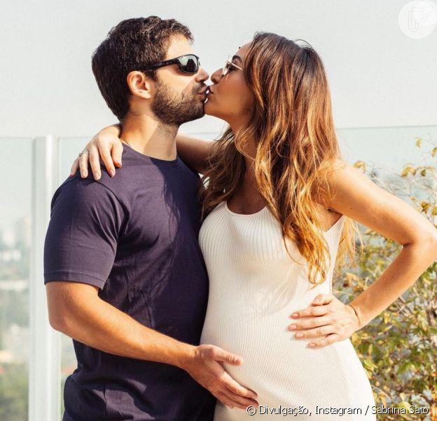 Sabrina Sato deu à luz Zoe, sua primeira filha com o ator Duda Nagle, em São Paulo