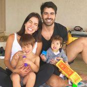 Fofura! Filhos de Adriana Sant'Anna e Rodrigão roubam a cena em foto em família