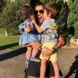 Adriana Sant'Anna sempre divide com os fãs fotos dos momentos de lazer ao lado dos filhos