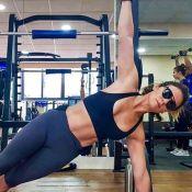 Giovanna Antonelli faz agachamentos em treino aeróbico em academia. Vídeo!