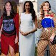 Inspire-se nas famosas para se manter fashion e confortável na gravidez