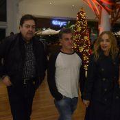 Faustão, Luciano Huck e Angélica saem juntos e acenam para fotos. Veja cliques!