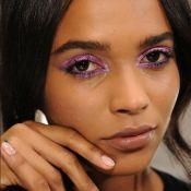 Maquiagem com sombra roxa, lavanda e lilás prometem ser hits da temporada