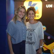 Fernanda Gentil e a mulher, Priscila Montandon, curtem show de Sandy, no Rio