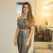 Jade Magalhães elege ombro a ombro metalizado para show de Luan Santana. Fotos!