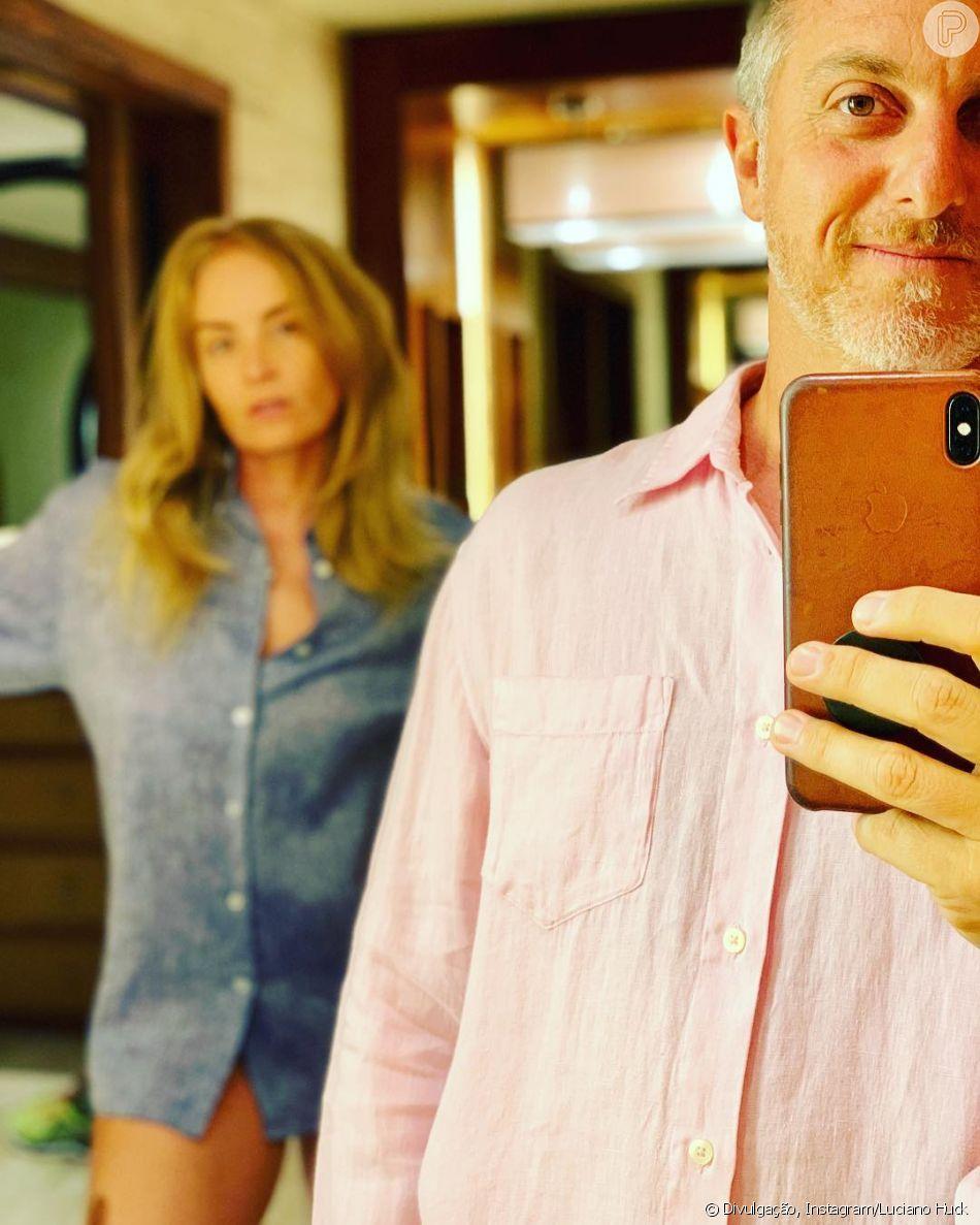 Luciano Huck usa rosa e Angélica azul após fala polêmica de ministra nesta  quinta-feira 8cb79c5053baa