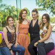 As ex-BBBs Fernanda Keulla, Ana Clara e Vivian Amorim participaram da apresentação do 'Vídeo Show' no ano passado