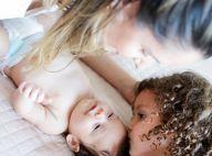Amor entre irmãos! Thyane Dantas mostra Ysis dando beijos em Dom: 'Plenitude'