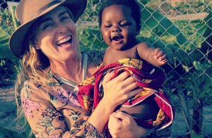 Angélica ensina crianças da Tanzânia a mandarem beijo pra câmera. Vídeo!