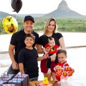 Wesley Safadão e Thyane fazem festinha em mesversário do filho, Dom: '4 meses'