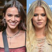 Bruna Marquezine é respondida por Khloé Kardashian e fãs pedem: 'Sejam amigas'