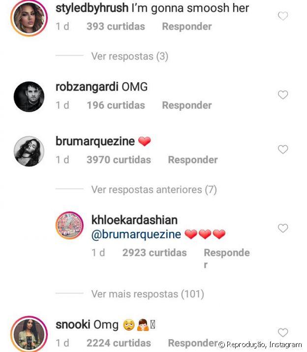 Khloé Kardashian respondeu Bruna na web