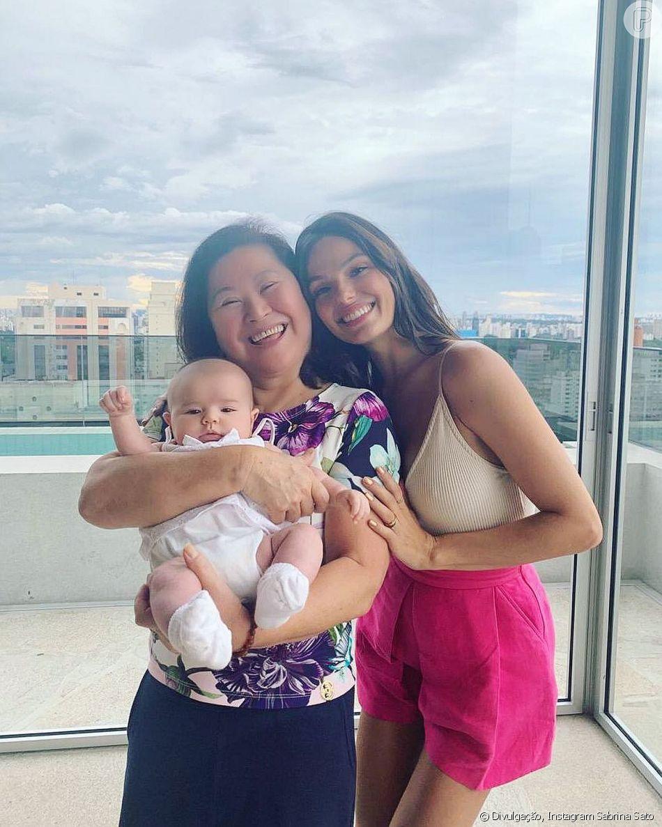 Sabrina Sato recebeu a visita de Isis Valverde neste domingo, 27 de janeiro de 2019
