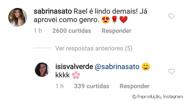 Sabrina aprova Rael como genro