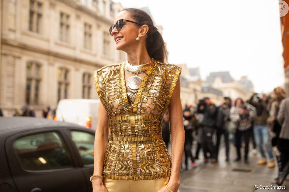 Dicas pra usar dourado no look: