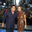 André Marques apresentou o Brazilian Day, em Nova York, em 2009 com Fernanda Lima