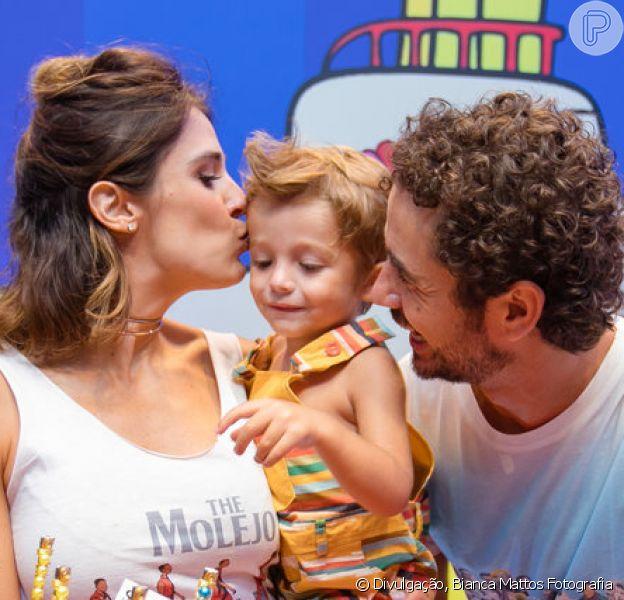 Rafa Brites e Felipe Andreoli comemoraram o segundo aniversário do filho, Rocco, neste domingo, 10 de fevereiro de 2019