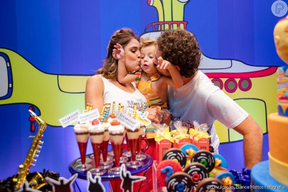 e9b4f89741 Rafa Brites e Felipe Andreoli festejaram o segundo aniversário do filho