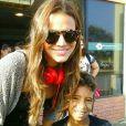 Na terça-feira, 23 de setembro de 2014, a atriz posou com fãs no aeroporto de Recife, onde fez uma conexão para pegar o vôo para Noronha