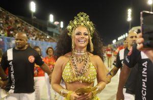 Viviane Araújo exibe barriga seca em ensaio de Carnaval: 'Muito treino'