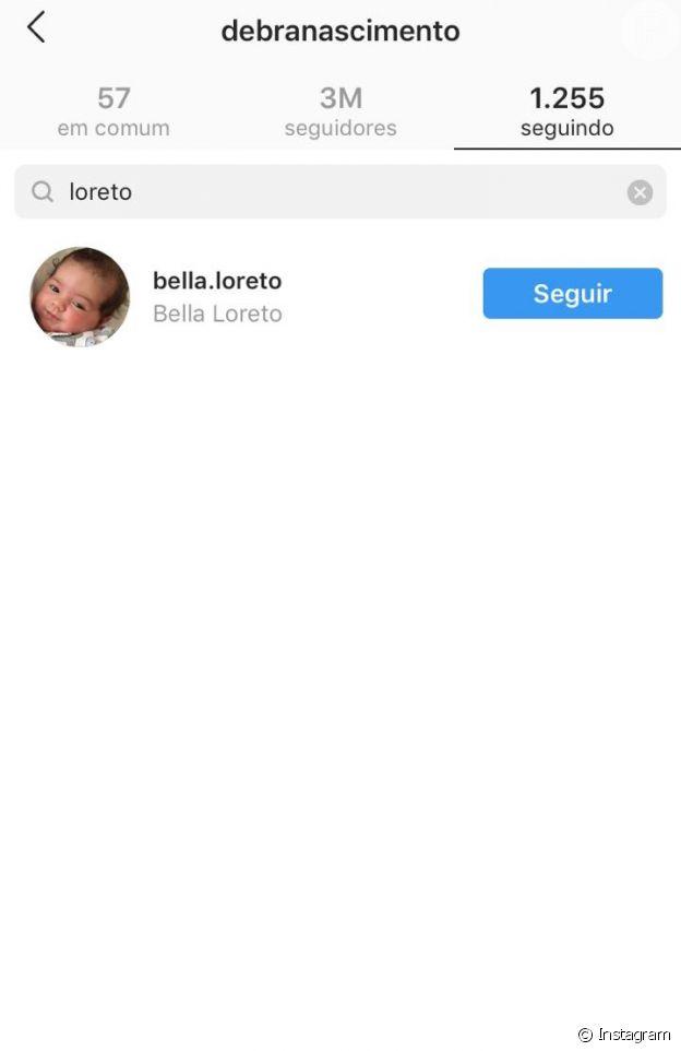 Perfil de José Loreto não é encontrado entre os seguidos por Débora Nascimento