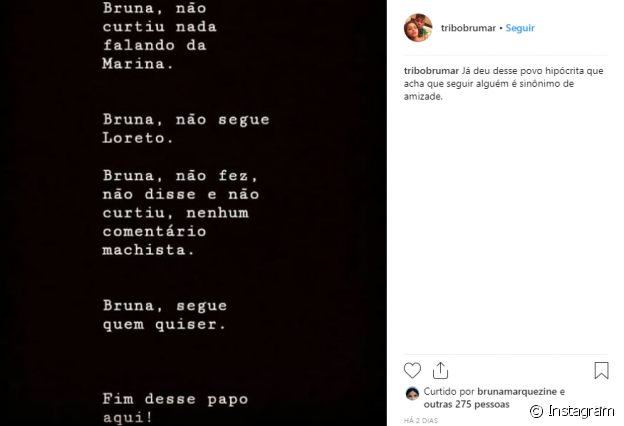 Bruna Marquezine afasta suposta rivalidade com Marina Ruy Barbosa