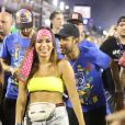 Neymar e Anitta se cruzaram em um dos camarotes da Marquês de Sapucaí