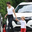 Sophie Charlotte encontrou com o filho em escolhinha localizado na zona oeste do Rio de Janeiro