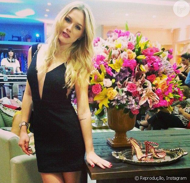 Fiorella Mattheis chamou a atenção durante um evento em Salvador na noite de terça-feira, 30 de setembro de 2014