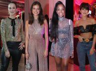 Brilho e look preto marcam o estilo das celebs em festa de Carol Sampaio. Fotos!