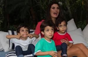 Isabella Fiorentino lança linha de roupas da Thelure, com os filhos trigêmeos