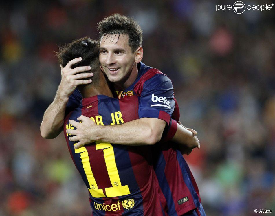 Neymar foi elogiado pelo craque Messi, nesta quinta-feira, 2 de outubro de 2014